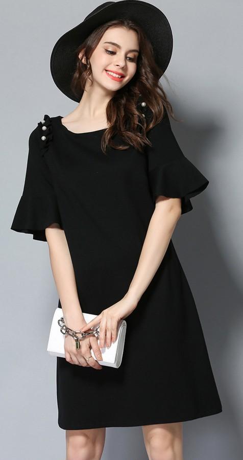Juoda suknelė su papuošimais XL (VIN1064_1)